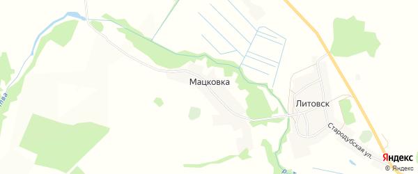 Карта деревни Мацковки в Брянской области с улицами и номерами домов