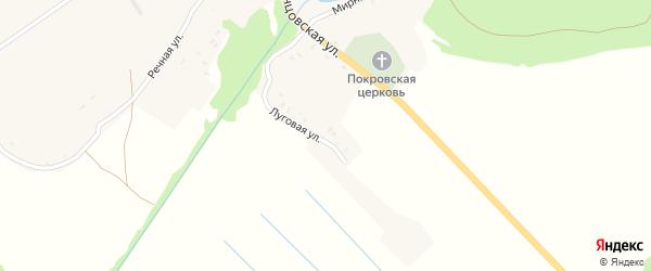 Садовая улица на карте села Селища с номерами домов