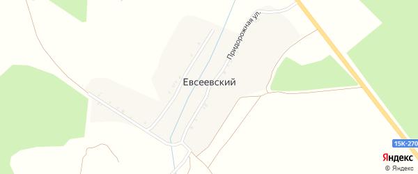 Луговая улица на карте Евсеевского поселка с номерами домов