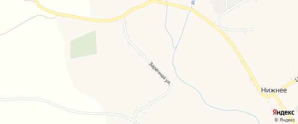 Заречная улица на карте Нижнего села с номерами домов