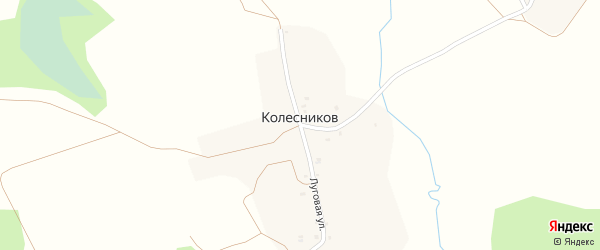 Поповская улица на карте поселка Колесникова с номерами домов