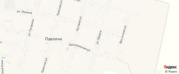 Полевая улица на карте села Павличей с номерами домов