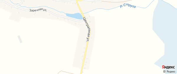 Центральная улица на карте деревни Струженки с номерами домов