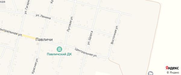 Улица Щорса на карте села Павличей с номерами домов
