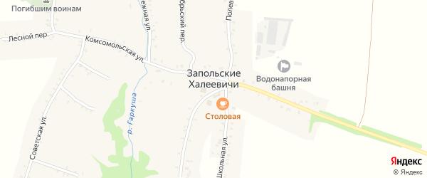Садовый переулок на карте села Запольские Халеевичи с номерами домов