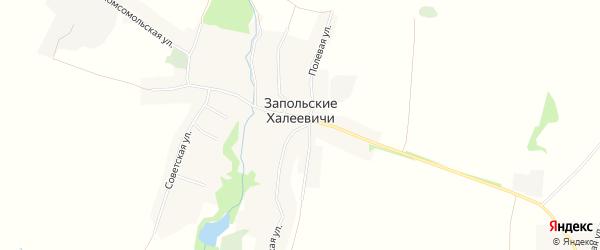 Карта села Запольские Халеевичи в Брянской области с улицами и номерами домов