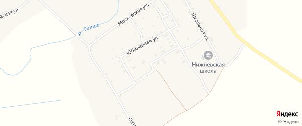 Юбилейная улица на карте Нижнего села с номерами домов
