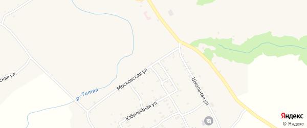 Московская улица на карте Нижнего села с номерами домов