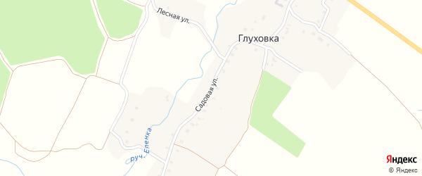 Садовая улица на карте деревни Глуховки с номерами домов