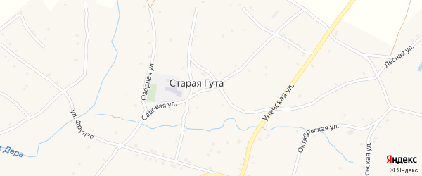 Садовая улица на карте села Старой Гуты с номерами домов