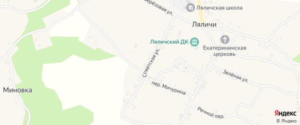 Советская улица на карте села Ляличей с номерами домов