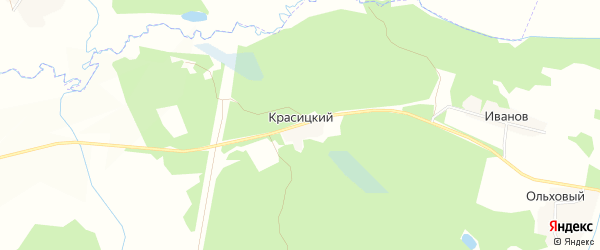 Карта Красицкого поселка в Брянской области с улицами и номерами домов