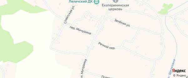 Улица Мичурина на карте села Ляличей с номерами домов