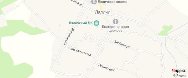 Полевой переулок на карте села Ляличей с номерами домов