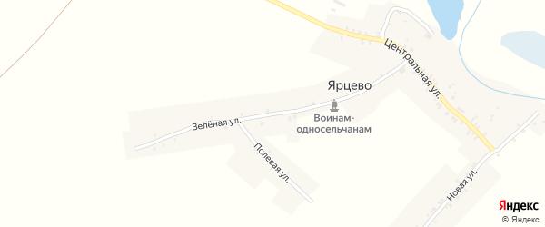 Центральная улица на карте села Ярцево с номерами домов