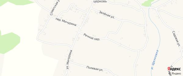 Речной переулок на карте села Ляличей с номерами домов
