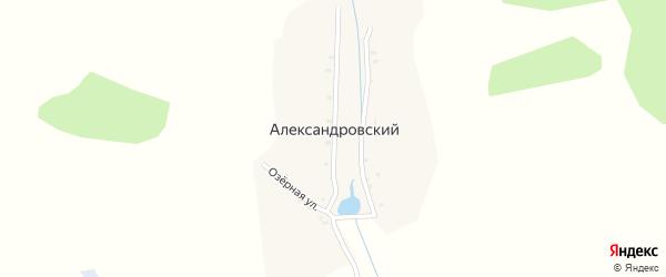 Садовая улица на карте Александровского поселка с номерами домов