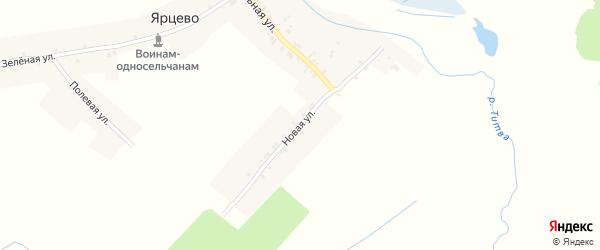 Новая улица на карте села Ярцево с номерами домов