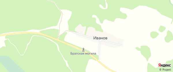 Гвардейская улица на карте поселка Иванова с номерами домов