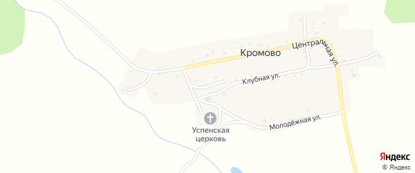 Луговой переулок на карте села Кромово с номерами домов