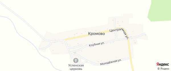 Центральная улица на карте села Кромово с номерами домов