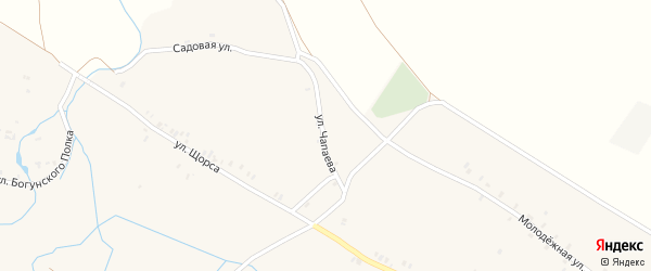 Улица Чапаева на карте села Лыщичей с номерами домов
