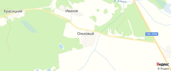 Карта Ольхового поселка в Брянской области с улицами и номерами домов