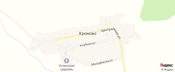 Низовой переулок на карте села Кромово с номерами домов