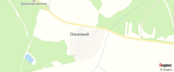 Партизанская улица на карте Ольхового поселка с номерами домов