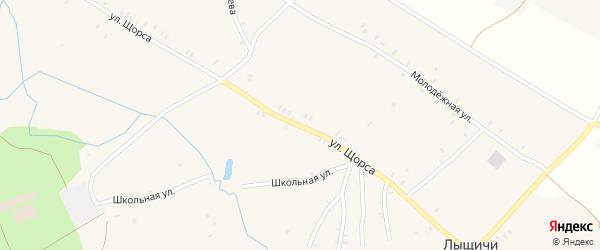 Улица Щорса на карте села Лыщичей с номерами домов