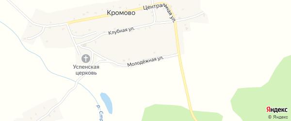 Молодежная улица на карте села Кромово с номерами домов