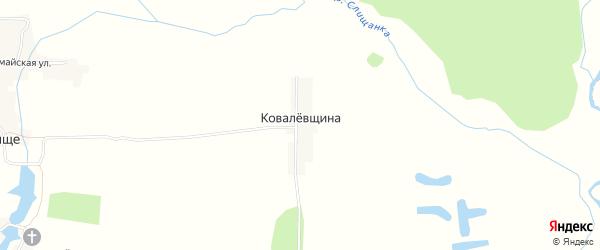 Карта поселка Ковалевщины в Брянской области с улицами и номерами домов