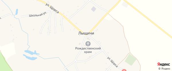 Первомайский переулок на карте села Лыщичей с номерами домов