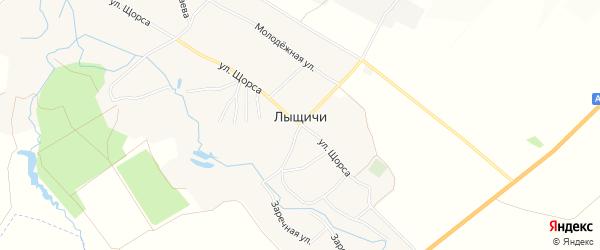 Карта села Лыщичей в Брянской области с улицами и номерами домов