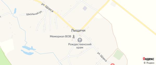 Переулок 4-й Щорса на карте села Лыщичей с номерами домов