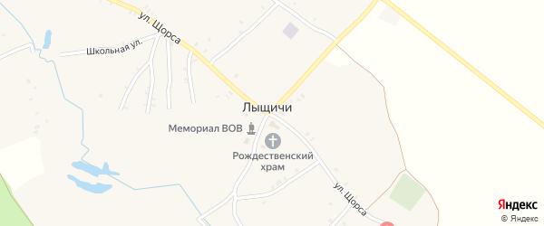 Садовая улица на карте села Лыщичей с номерами домов