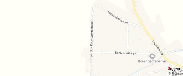 Улица Зои Космодемьянской на карте Нивного села с номерами домов