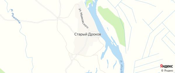 Карта деревни Старыя Дрокова в Брянской области с улицами и номерами домов