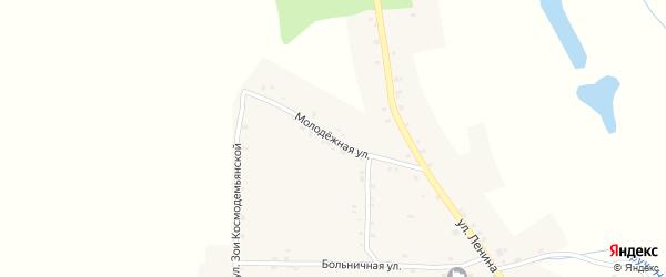 Молодежная улица на карте Нивного села с номерами домов