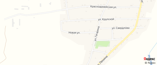 Новая улица на карте Нивного села с номерами домов