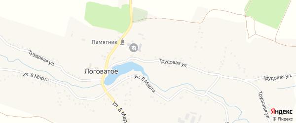 Трудовая улица на карте Логоватого села с номерами домов