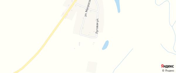 Луговая улица на карте Нивного села с номерами домов