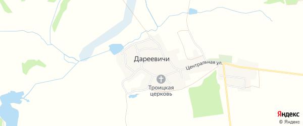 Карта села Дареевичи в Брянской области с улицами и номерами домов