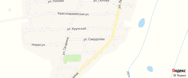 Улица Свердлова на карте Нивного села с номерами домов