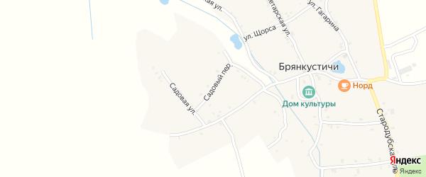 Садовый переулок на карте села Брянкустичи с номерами домов