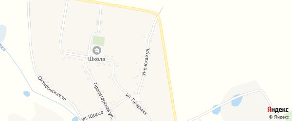 Унечская улица на карте села Брянкустичи с номерами домов