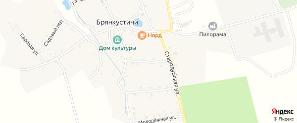 Гвардейская улица на карте села Брянкустичи с номерами домов