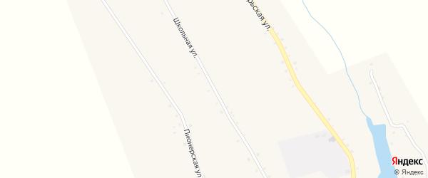 Школьная улица на карте села Пантусова с номерами домов