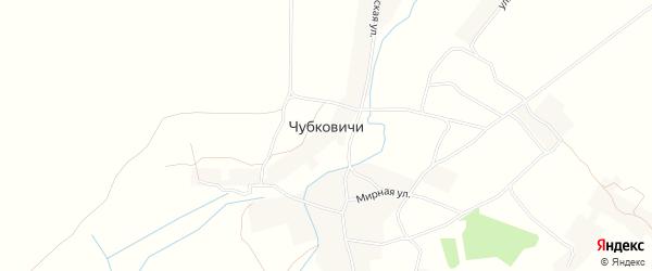 Карта села Чубковичей в Брянской области с улицами и номерами домов