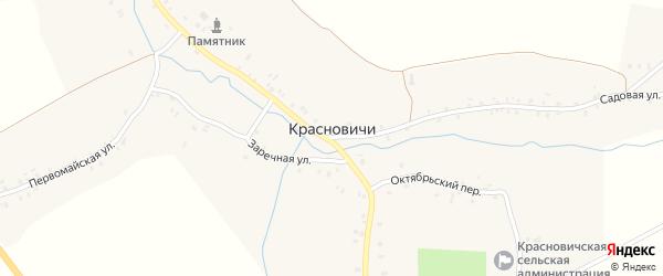Первомайская улица на карте села Красновичей с номерами домов